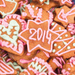Homemade new year cookie with 2014 number — Stock Photo