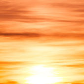 Orange and yellow colors sunset sky — Stock Photo