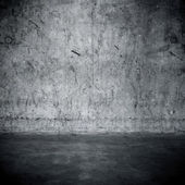 Grungy concrete wall and floor — Stock Photo