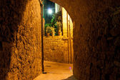 Narrow alley, Pienza Italy — Stock Photo