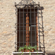 Old and aged window — Foto Stock