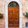 Old elegant door in Italy — Stock Photo #35138853