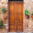 Old elegant door in Italy — Stock Photo #35138941