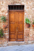 Old elegant door in Italy — Photo