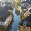 Early autumn morning in the Luxembourg  — Stock Photo