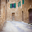 Narrow street in Ravenna — Stock Photo