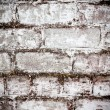 Brick white dirty wall background — ストック写真