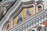 Golden mosaic icon on Cathedral in Tallinn, Estonia — Stock Photo