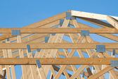 New residential construction home framing — Stock Photo