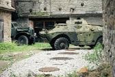 Old soviet military ussr vehicles — Stock Photo