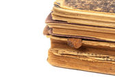Old books isolated on a white — Stock Photo