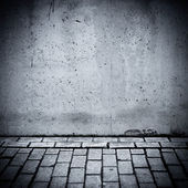 Grungy concrete wall and floor as background — Stock Photo