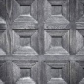 Close-up image of an wooden door — Stock Photo