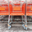 Shopping carts on a parking lot — Stock Photo #45603103