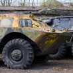 Old soviet military ussr vehicles — Stock Photo #45749413