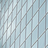 Texture of blue glass high-rise corporate buildings — Stock Photo
