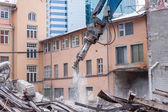 Demolition truck in action  — Stockfoto