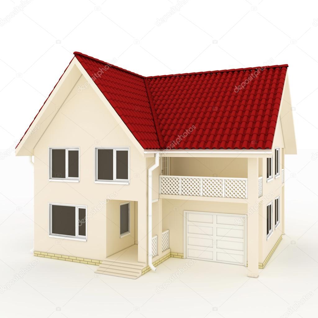 två röda hus