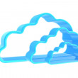 Blue clouds symbolizing storage data — Stock Photo