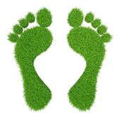 Green herbal human footprints — Stock Photo