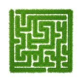 Green grass maze — Stock Photo