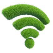 Wi-fi grass — Stock Photo