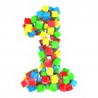 Number 1 of colorful cubes — Stock Photo #19759847