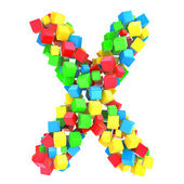 Letters X of colorful cube — Stock Photo