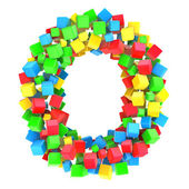 Letters O of colorful cube — Stock Photo