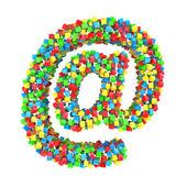 カラフルなキューブの電子メール署名 — ストック写真