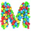 Letters M of colorful cube — Stock Photo #19784845