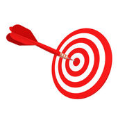 Red darts — Stock Photo