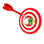 Euro target of darts — Stock Photo