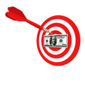 Dollar target of darts — Stock Photo