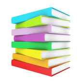 A stack of colorful books — Stock Photo