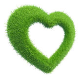 Heart of green grass — Stock Photo