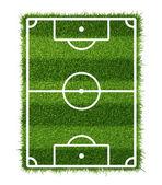 Campo de futebol relvado — Fotografia Stock