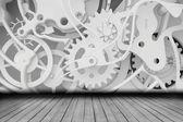 Mechanism of cogwheels in the room — Stock Photo