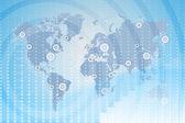 карта мира. глобальный бизнес между государствами. — Стоковое фото
