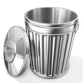 Empty trash can — Stock Photo