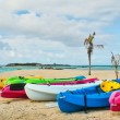 Royalty-Free Stock Photo: Kayaks on Tropical Beach