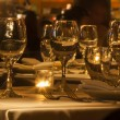 Foto Stock: Table Set with Stemware