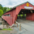 Covered Bridge in Taftsville Vermont — Stock Photo