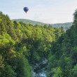 Hot Air Balloon RIde at Quechee Vermont - Stock Photo