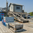 Dock for Maine Lobster Fishermen — Stock Photo