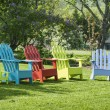 Diverse Group of Adirondack Chairs — Stock Photo