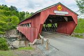 Covered Bridge in Taftsville Vermont — Stock Photo