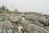 Pemaquid Point Lighthouse in Fog — Stock Photo