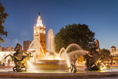 Kansas City Missouri Fountain at Country Club Plaza — Stock Photo