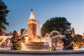 Kansas City Missouri Fountain at Country Club Plaza — Stock Photo